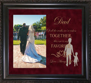Image of Personalized Photo Frames - Vintage Black Scoop - w/Maroon Suede mat - w/Father of the Bride Wedding Design