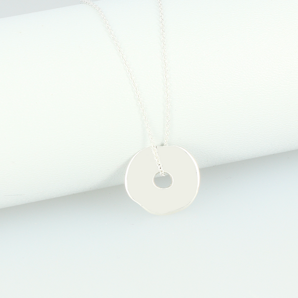 Collier Cible argent massif personnalisable