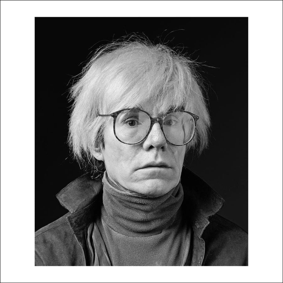 Andy Warhol's photograph in black and white, work by Wolfgang Wesener. Represented by Tuleste Factory in New York City.