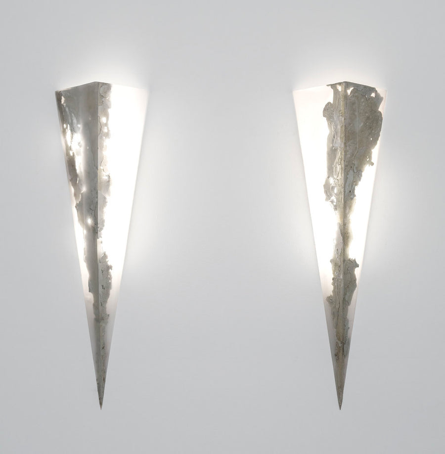 Prism wall sconce light sculpture by Amanda Richards. Represented by Tuleste Factory in New York City.