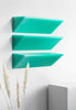 Resin furniture design, set of shelves as sculpture. A statement collectible design piece by Facture Studio. Represented by Tuleste Factory in New York City.