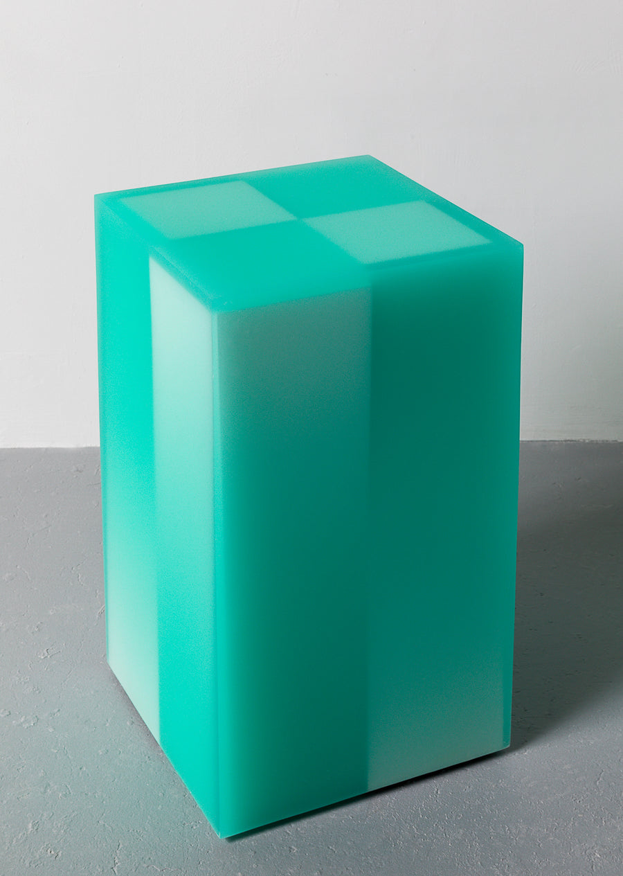 Resin funiture design, side table and stool by Facture Studio. Represented by Tuleste Factory in New York City.