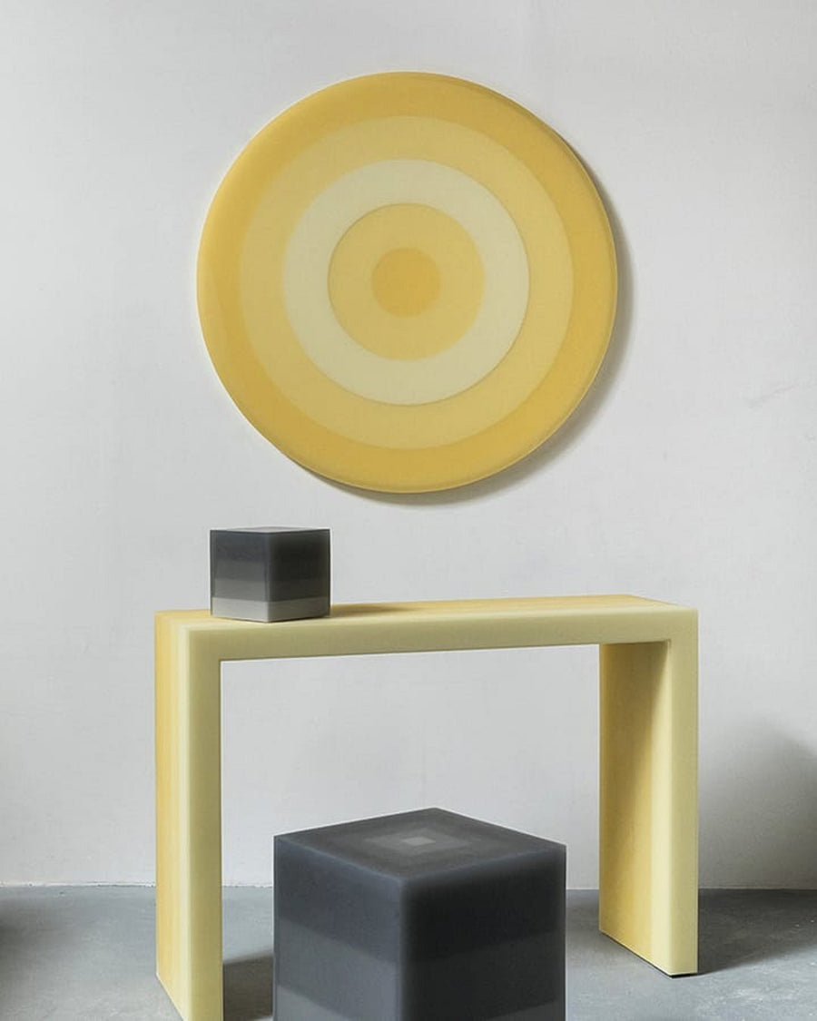 Resin furniture design, wall art as sculpture by Facture Studio. Represented by Tuleste Factory in New York City.