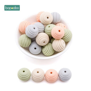 Pack Of 10 Silicone Beads For Baby Teething