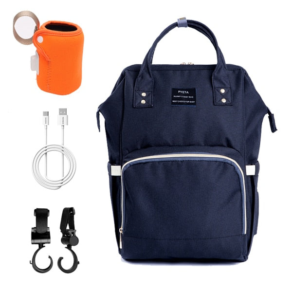 Backpack With a Bottle Warmer & Baby Stroller Hook
