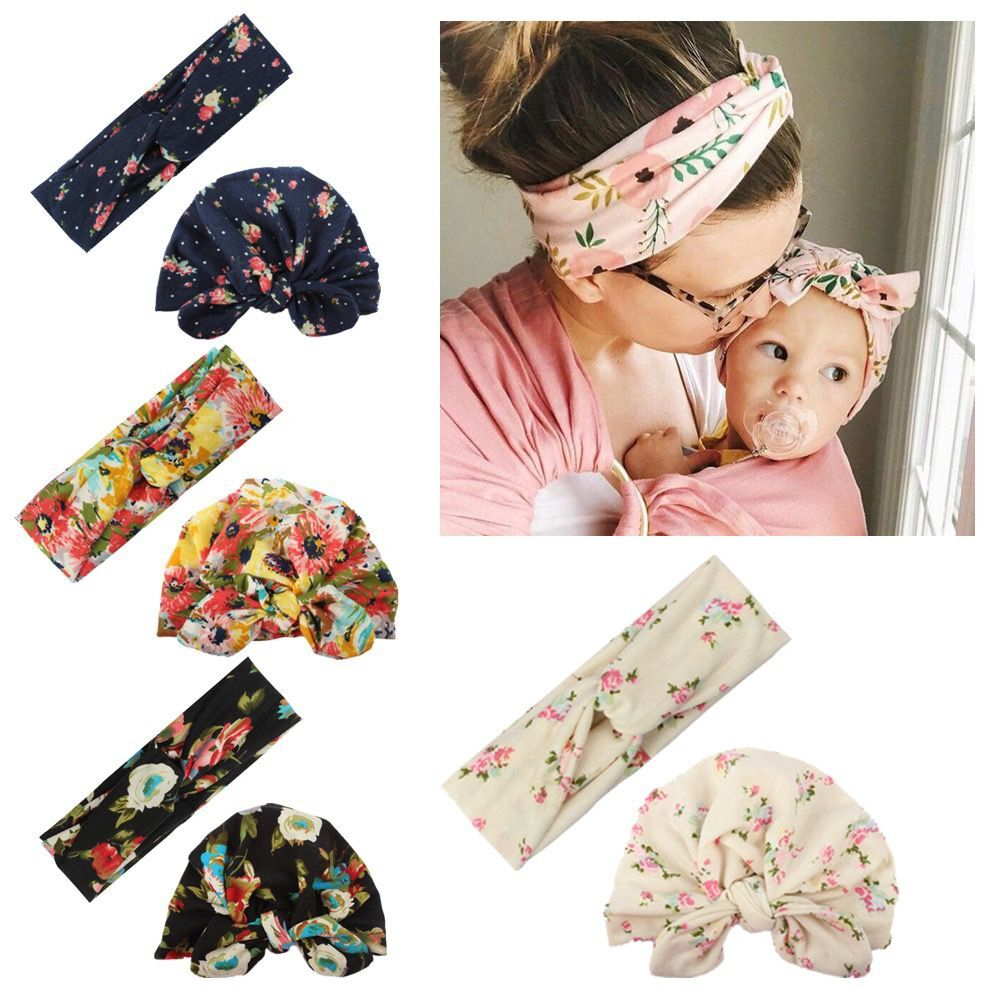 Baby & Mother Boho Flower Headbands Set
