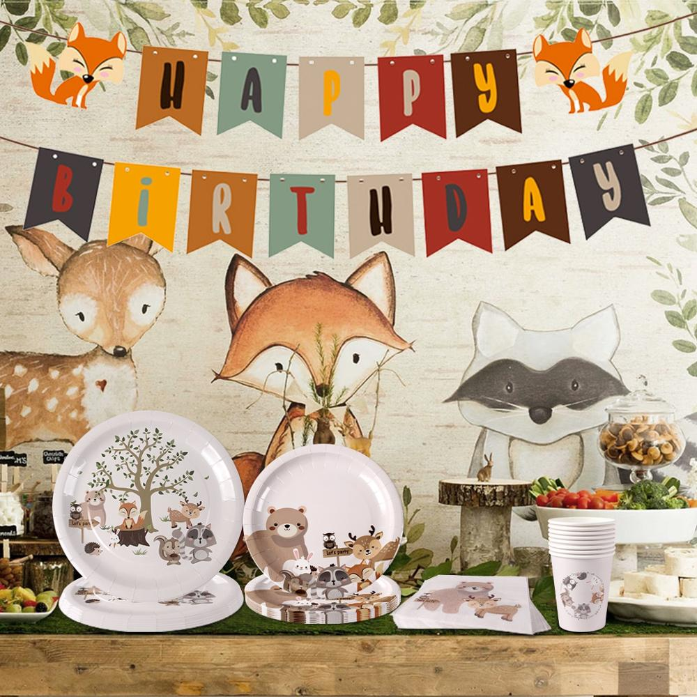 Woodland Party Tableware Set