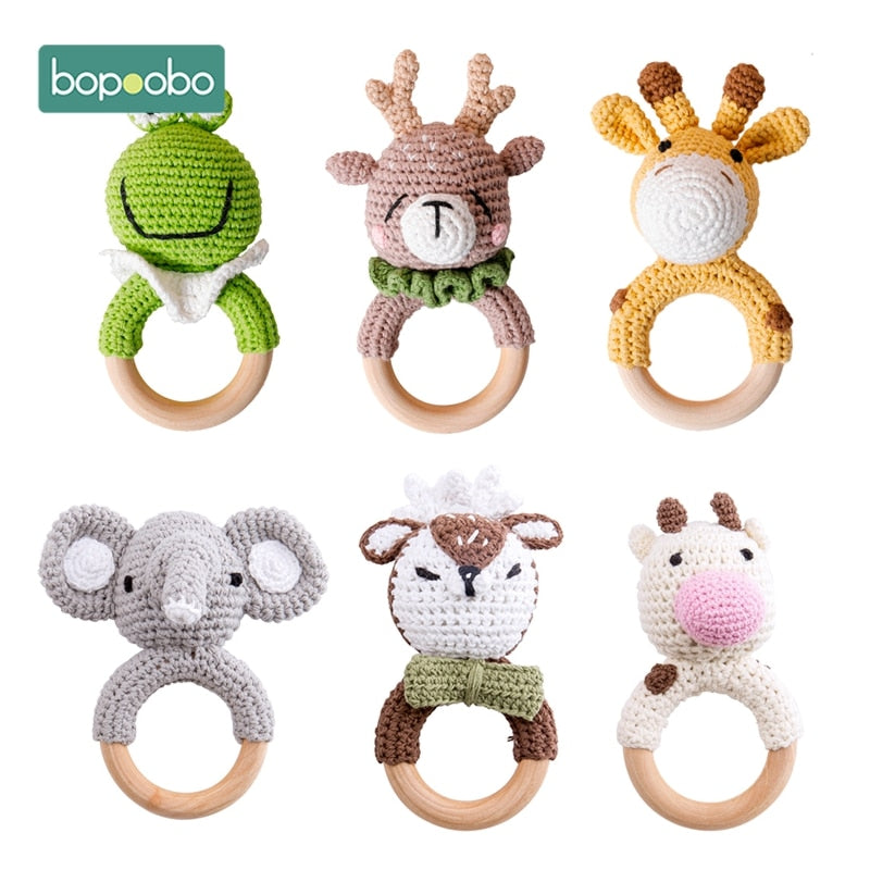 Safe Wooden Baby Teether Toys