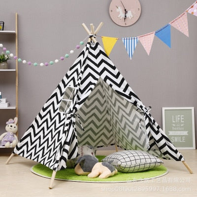 Black & White Tipi Tent