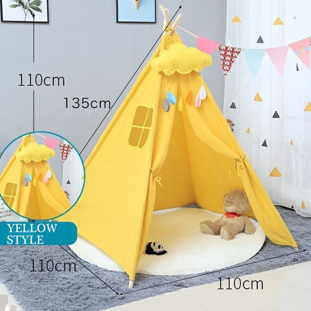Yellow Play Tent For Kids