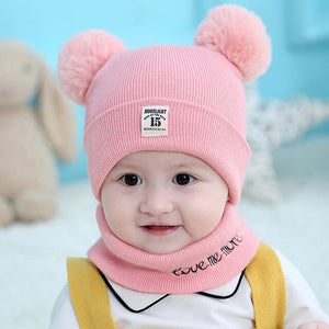 Baby Bear Hat & Scarf Set
