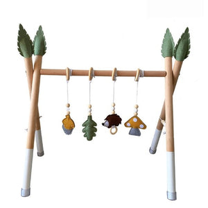 Nordic Style Wooden Baby Gym