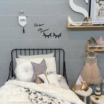 Wooden Eyelash Wall Sticker