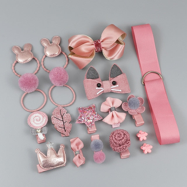 Dark Pink Hair Clip Set