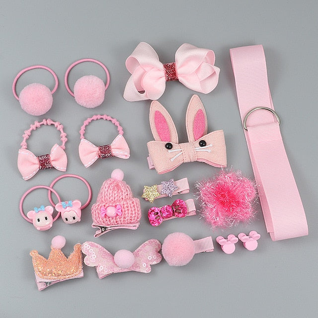 Bubble Pink Hair Clip Set