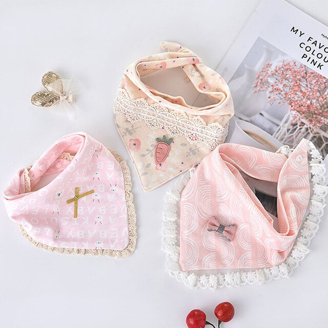Pack of Three Pink Bandana Bibs