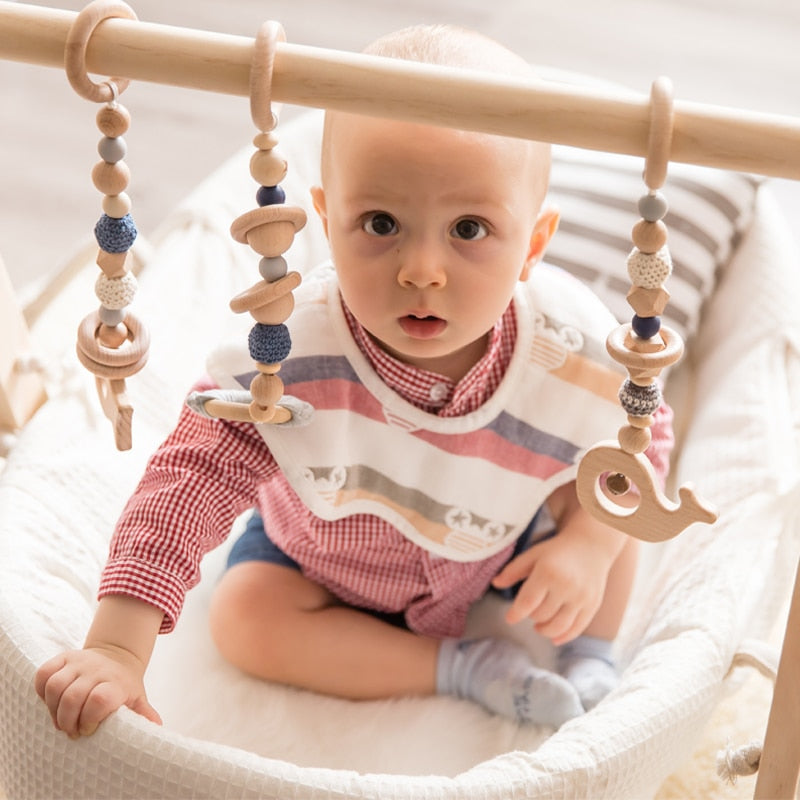 Wooden Rattle Teethers For Baby Gym
