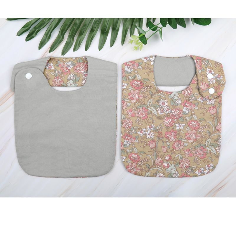 Rose Garden Vintage Cotton Bib