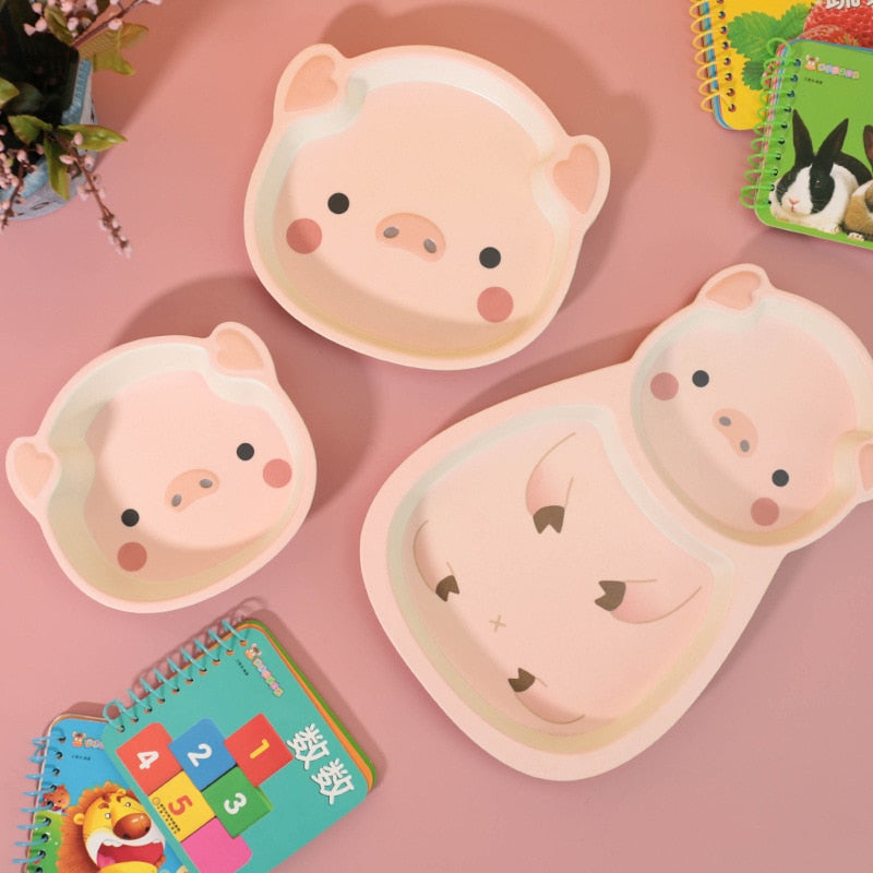 Happy Pig Bamboo Fiber Set