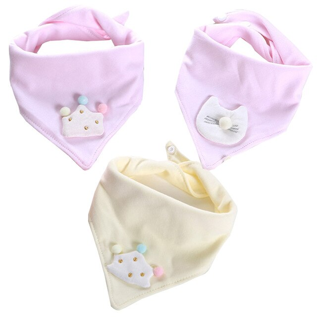 3-Pack Pink/Yellow Bibs For Little Princess