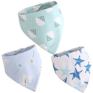 Pack Of 3  Cloud/Stars Bibs