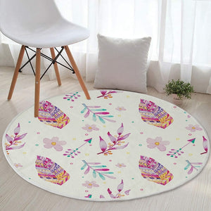 Bohemian Colorful Cotton Round Mat