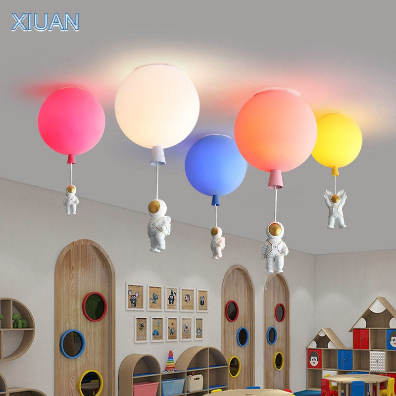 Spaceman Bubble Chandelier   Light