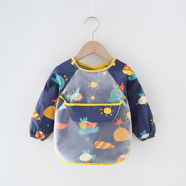 Dark Blue Earth Baby Apron