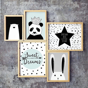 Panda Rabbit Canvas