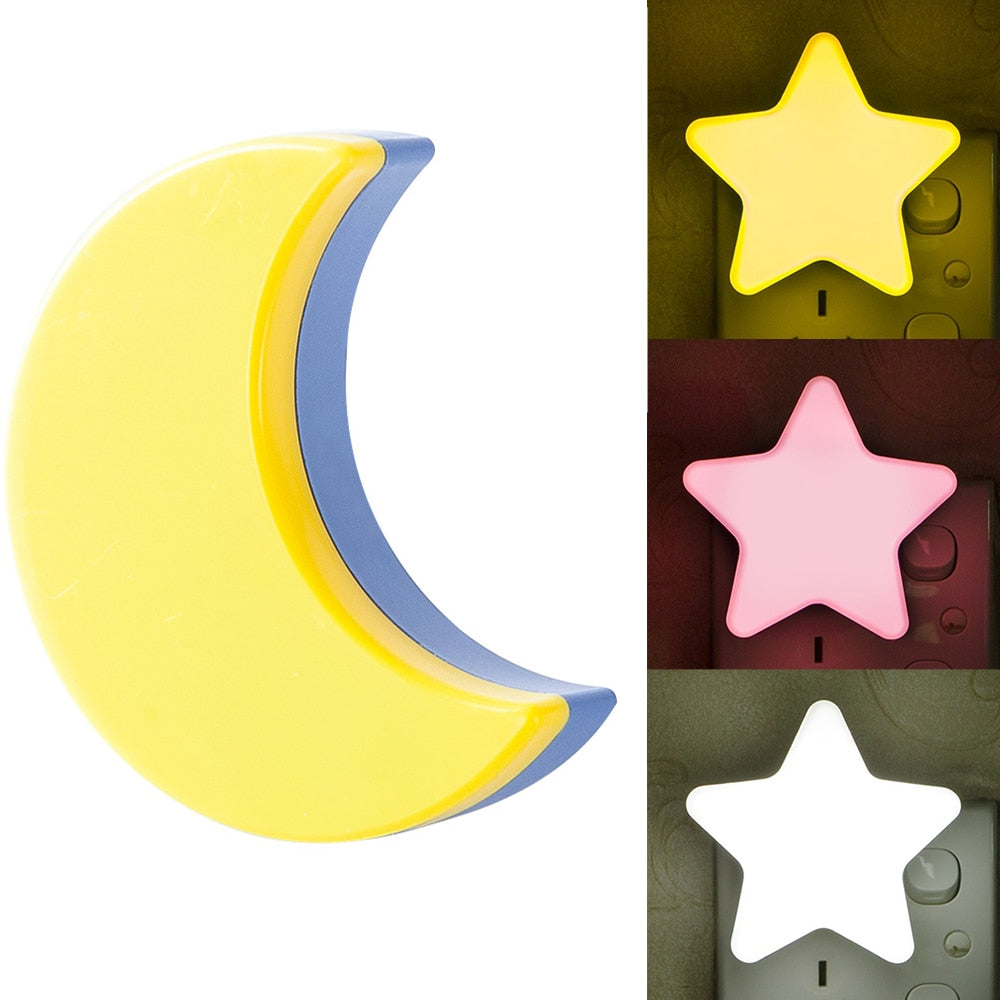 Sensor Star Moon LED Night Lamp