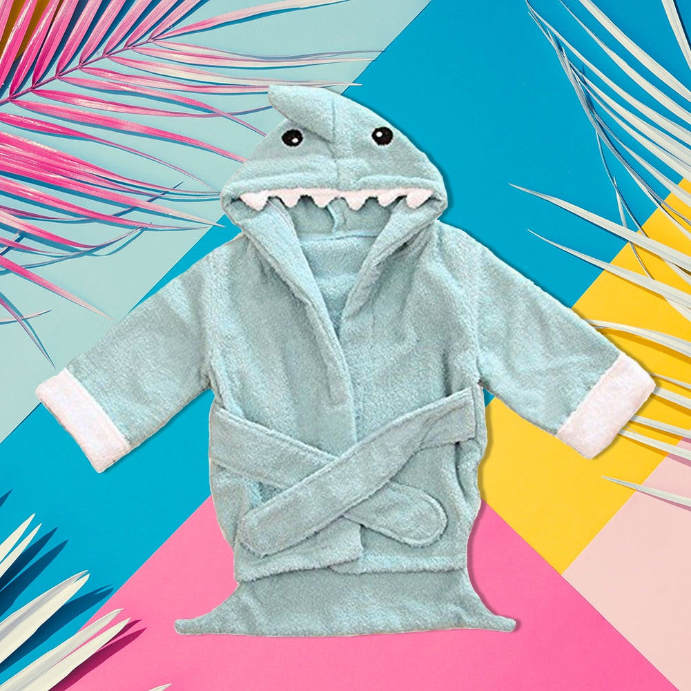 Skin-friendly Shark Warm Bath Towel