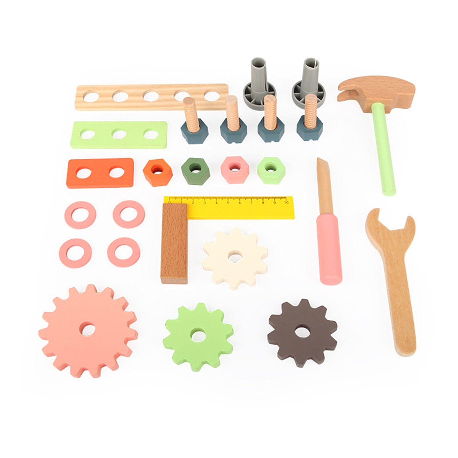 Wooden Workbench Tools Set