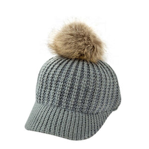 Pompom Winter Cap for Children 2-5 Years