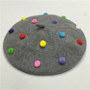Wool Berret Hats For Girls