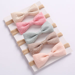 Pack Of 5 Bowknot Headbands