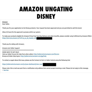 Amazon Ungating Service- Disney Brand - Legit Distributor - PRO eMARKETING