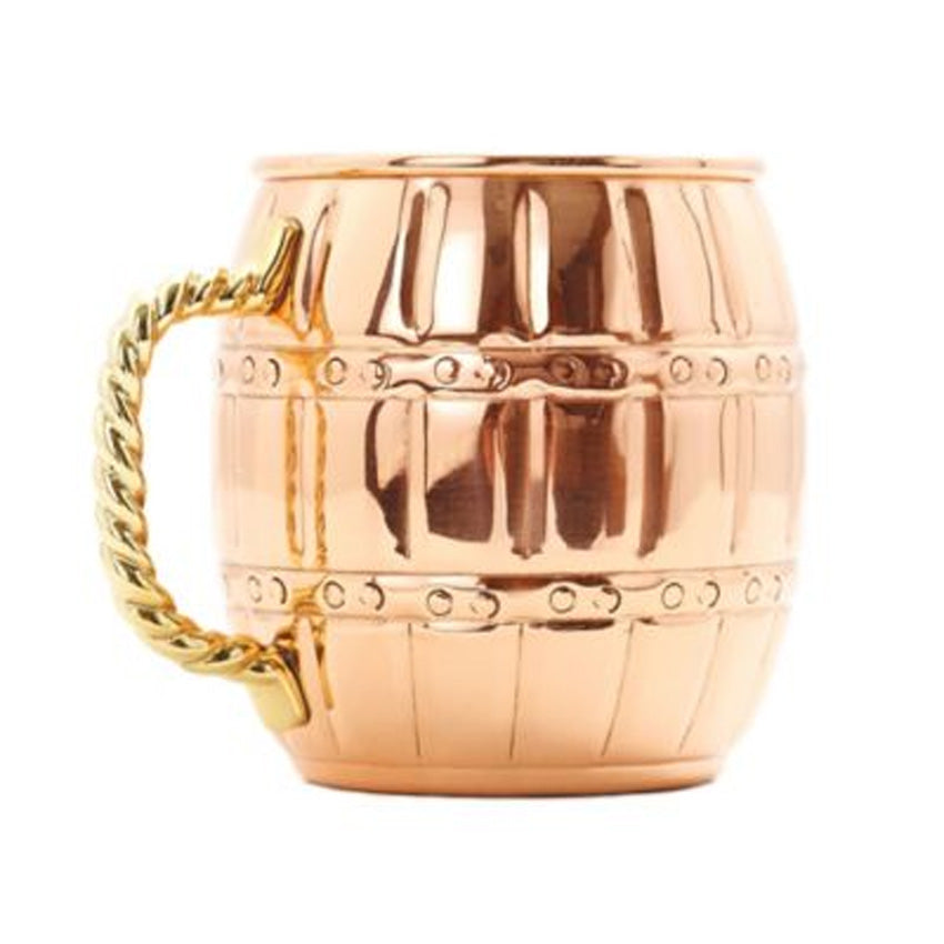 Old Dutch Nickel-Lined Solid Copper Barrel Mule Mug