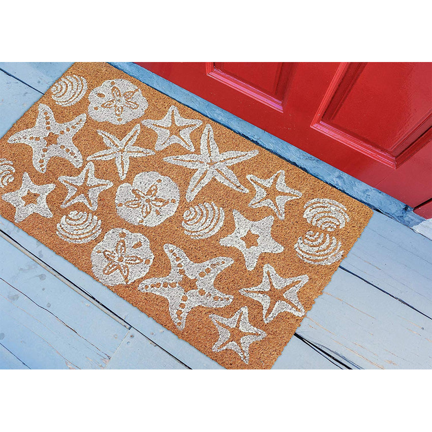 Indoor/Outdoor Door Mat - Seashells