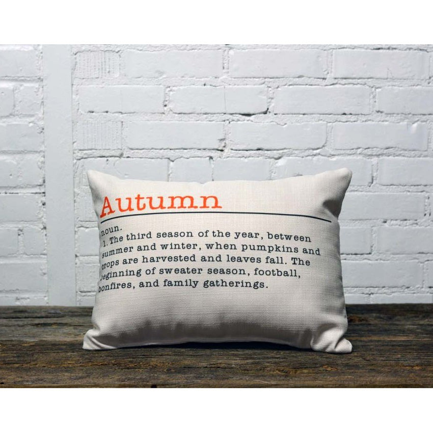 Autumn Definition Piped Edge Pillow