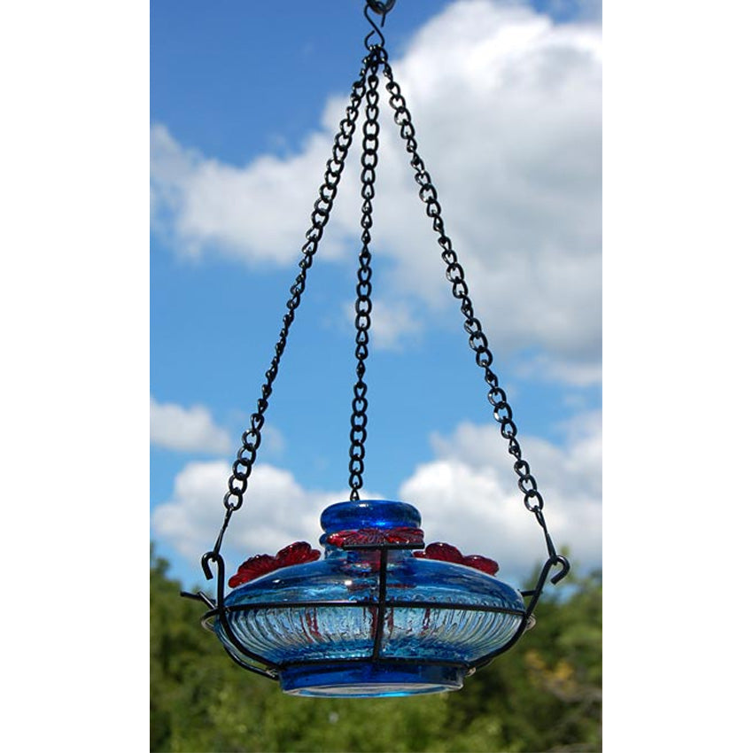Bloom Perch Hummingbird Feeder - Blue