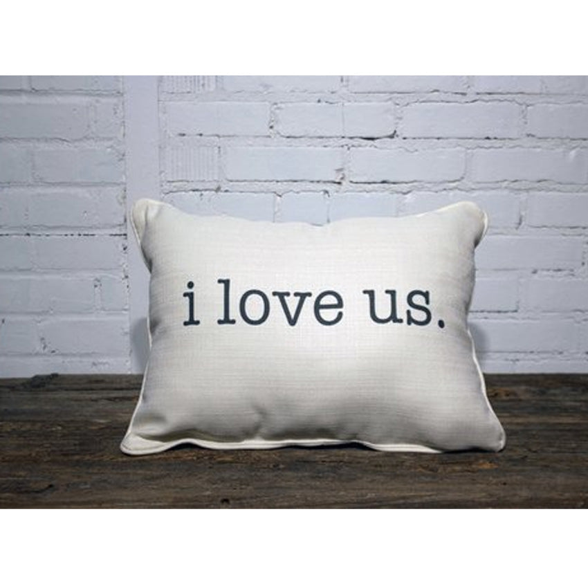 I love Us Piped Edge Pillow