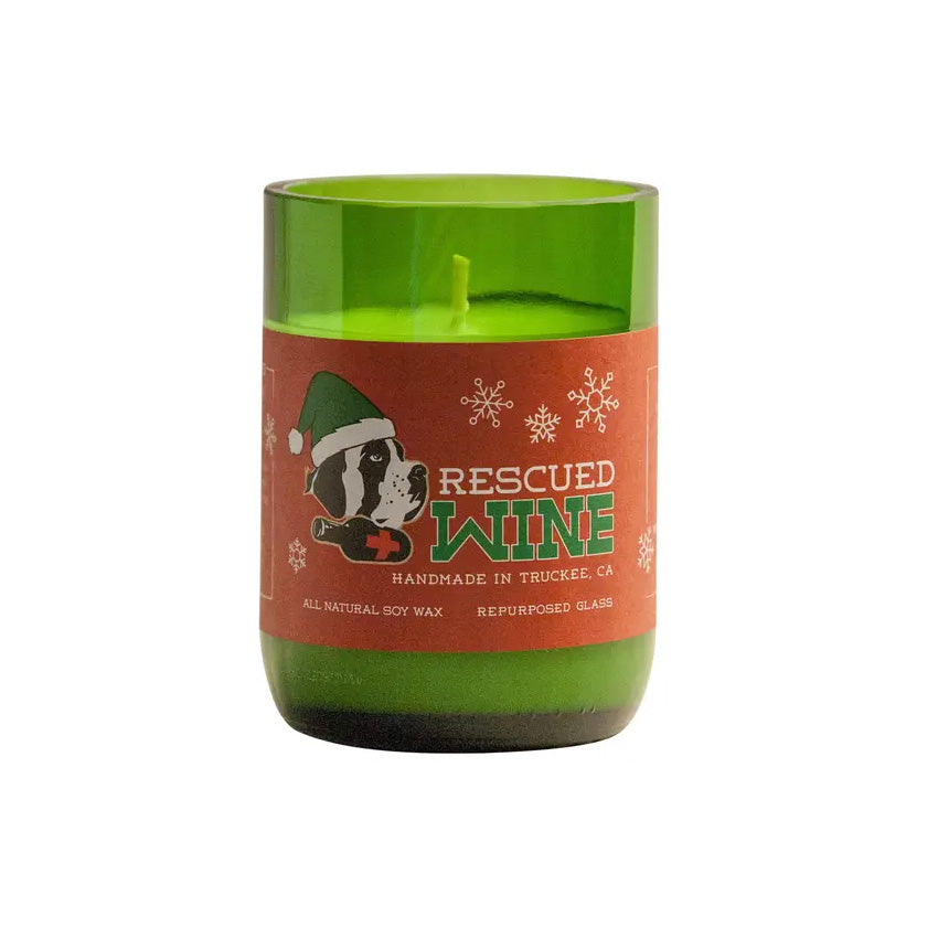 Rescued Wine For the Holidays Soy Candle 12 oz - 80hr burn