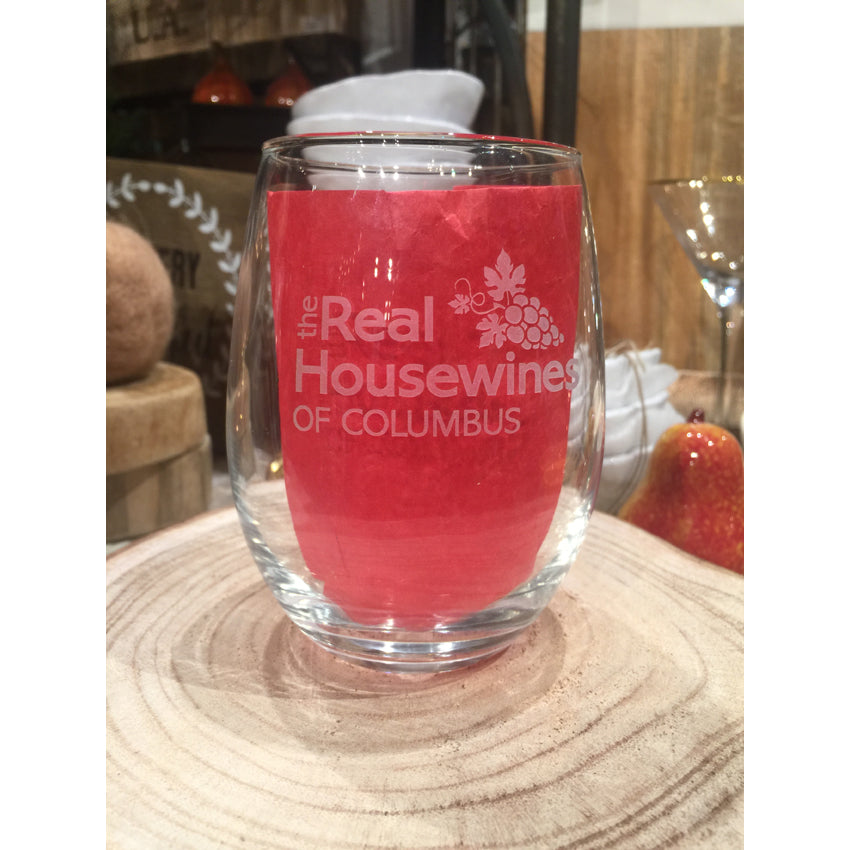 "Custom Real Housewines of ""Your City"" Stemless Wine Set of 4"