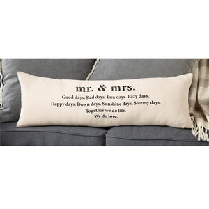 Mr. & Mrs. Definition Canvas Lumbar Pillow