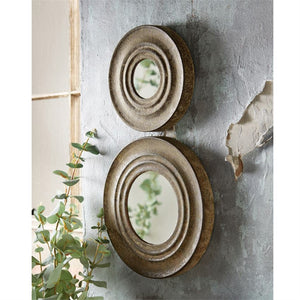 Weathered Metal Wall Mirror