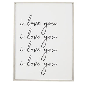 I love You Wooden Sign - 29""