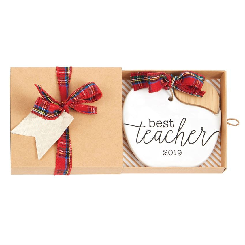 2019 Best Teacher Ceramic Ornament