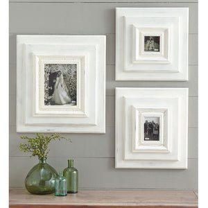 White-Washed Wooden Photo Frame
