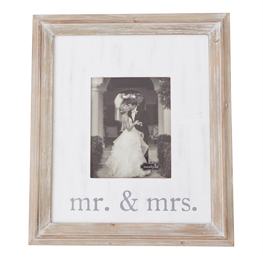 Mr. & Mrs.  Wooden Frame