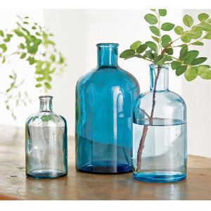 Blue Bottle Vases
